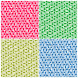 Set of simple colorful seamless patterns dots Royalty Free Stock Photography