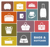 Bags and suitcase Royalty Free Stock Image