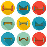 Set of simple cute cartoon colorful hand drawn Royalty Free Stock Images