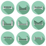 Set of simple cute cartoon outline hand drawn Royalty Free Stock Photo