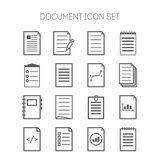 Set of simple document icons for web design, sites, applications, business and stickers Royalty Free Stock Photo
