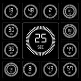 Set of The 25 seconds, 57 43 8 90 44 36 83 30 editable icon pack. Set Of 13 simple editable icons such as The 25 seconds, 57 43 8 90 44 36 83 web ui icon pack Stock Image