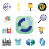 Set of sector, podiatry, free brain, water filter, established, hoopoe, good bad, focus group, prop plane icons. Set Of 13 simple editable icons such as sector Royalty Free Stock Images