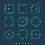 Set of simple and elegant monogram design templates. Stock Images