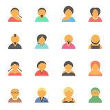 Set of simple face avatar people icons Royalty Free Stock Images