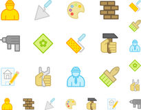 Set a simple flat icons �10 Royalty Free Stock Image