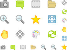 Set a simple flat icons №2 Stock Image