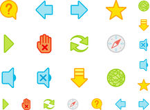 Set a simple flat icons №3 Royalty Free Stock Image