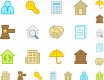 Set a simple flat icons �9 Royalty Free Stock Photography