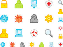 Set a simple flat icons №4 Stock Photo