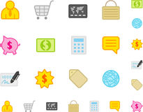 Set a simple flat icons №5 Royalty Free Stock Photos