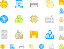 Set a simple flat icons №6 Royalty Free Stock Photos