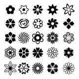 Set of simple flowers icons Royalty Free Stock Images