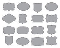 Set of simple frames. Collection of label shapes. Vector illustration. Royalty Free Stock Photo