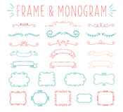 Set of simple and graceful monogram design Stock Images
