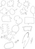 Set of simple hand drawn speech bubble doodle Stock Image