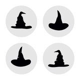 Set of simple hats illustration Royalty Free Stock Photography