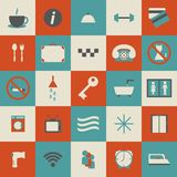 Set of simple hotel icons Stock Image