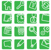 Set of simple icons. Stock Photos