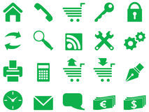 Set of simple icons. Stock Images