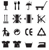 Set of simple icons. Set of simple black icons for package Stock Images