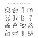 Set of simple icons for beauty, spa, salons, web Stock Photography