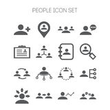 Set of simple icons for business, corporation, web design and application Stock Image