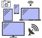 Set of simple icons gadgets. Vector. Royalty Free Stock Photo