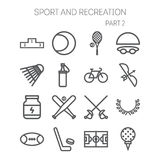 Set of simple icons for sport, recreation, web design and application Royalty Free Stock Photography