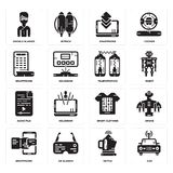 Set of Car, Kettle, Smartphone, Smart clothing, Audio file, Teleportation, Google glasses icons. Set Of 16 simple  icons such as Car, Kettle, Ar glasses Royalty Free Stock Image