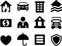Set of simple insurance icons. Stock Photography