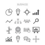Set of simple isolated business icons Royalty Free Stock Photos
