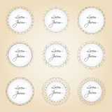 Set of simple lines circle border decorations eps10 Royalty Free Stock Images