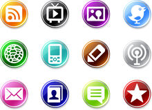 Set of simple media icons. Stock Photography
