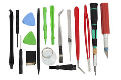 Set of simple mini tools Stock Image