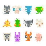 Set of simple minimal flat animal characters Royalty Free Stock Photos