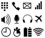 Set of simple modern icons for smartphone Stock Images