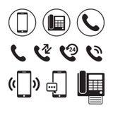 Phone icon set royalty free illustration