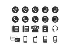 Set of simple phone icon Royalty Free Stock Image
