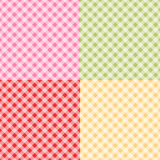 Set of simple retro backgrounds. As plaid patterns for baby shower etc Royalty Free Stock Image