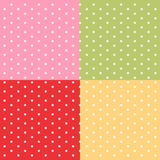 Set of simple retro backgrounds. As polka dot patterns for baby shower etc Stock Photography