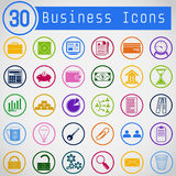 Set of Simple Round Business Icons Stock Photo