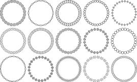 Set of 15 simple round  frames. Royalty Free Stock Photo