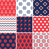 Set of simple seamless abstract summer patterns. Vector colorful vector illustration