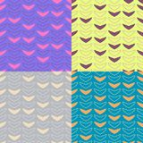 Simple check pattern. A set of simple seamless check pattern in different color Stock Photos