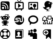Set of simple social network icons. Stock Photography