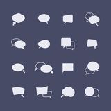 Set of simple speech bubble icons on the dark Stock Photo