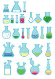 A set of simple style test tubes. Royalty Free Stock Images