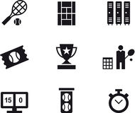 Set of Simple Tennis Icons Royalty Free Stock Photography