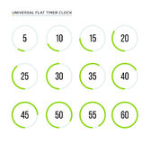 Set of simple timers. Royalty Free Stock Images